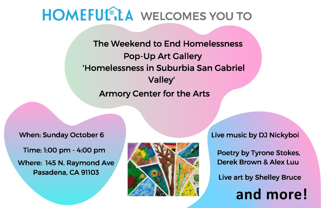 The Weekend to End Homelessness Pop-Up Art Gallery