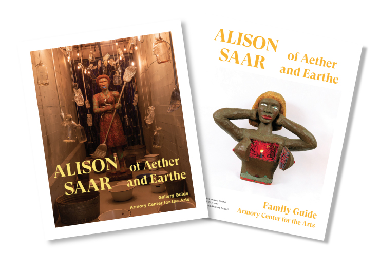 Images of the Alison Saar exhibition catalogue.