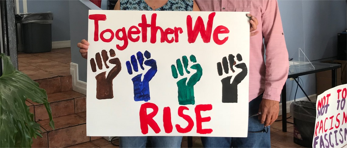 together We rise poster